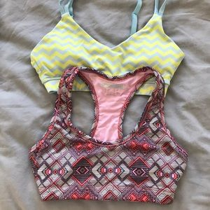 Two forever 21 sports bras